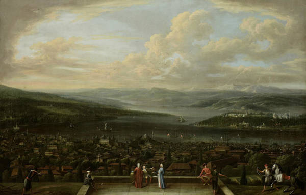 Painting - View Of Istanbul From The Dutch Embassy In Pera by Jean Baptiste Vanmour
