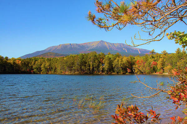 Photograph - View Of Katahdin In Early Fall by Jeff Folger