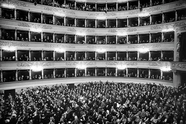 Mixing Photograph - View Of La Scala Opera House W. Tiers Of by Alfred Eisenstaedt