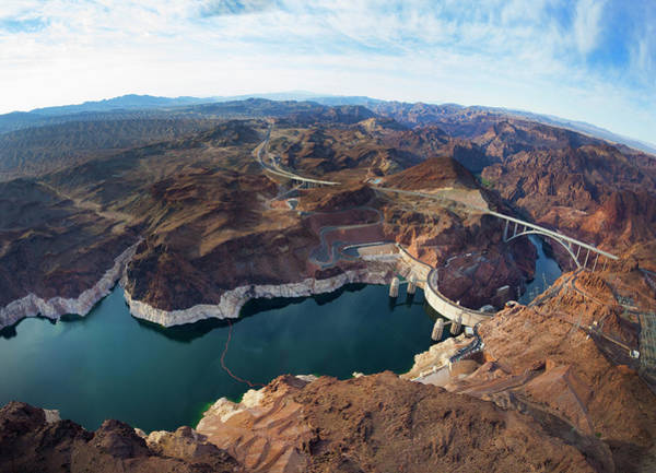Wall Art - Photograph - View Of Lake Mead And Hoover Dam by Derek E. Rothchild
