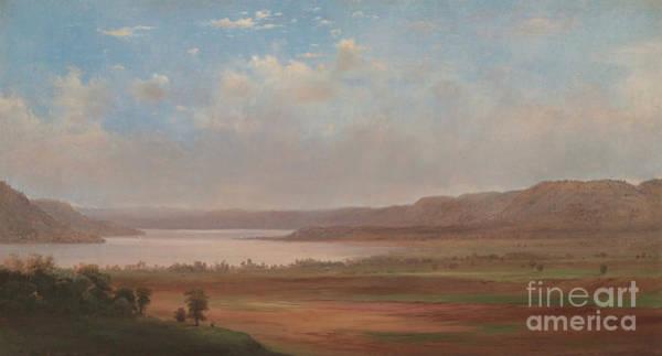 Wall Art - Painting - View Of Lake Pepin, Minnesota, 1862 by Robert Scott Duncanson