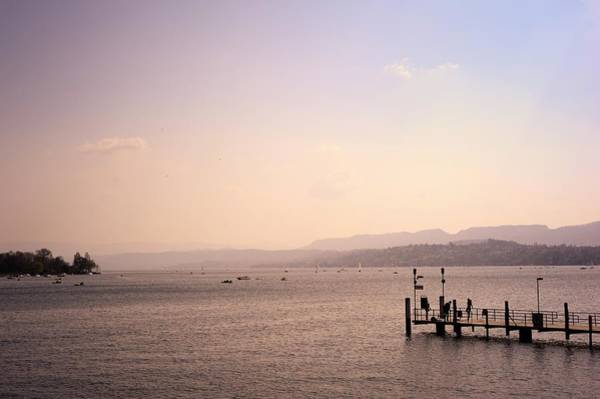 Quayside Photograph - View Of Lake Zurich by Amesy