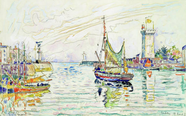 Area Painting - View Of Les Sables D'olonne - Digital Remastered Edition by Paul Signac