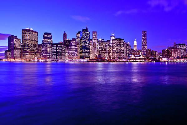 Wall Art - Photograph - View Of Lower Manhattan At Dusk by Christine Wehrmeier