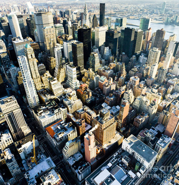 Exterior Wall Art - Photograph - View Of Manhattan From The Empire State by Richard Semik