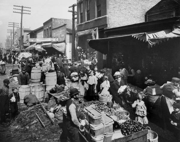 Merchandise Photograph - View Of Maxwell Street Market by Chicago History Museum