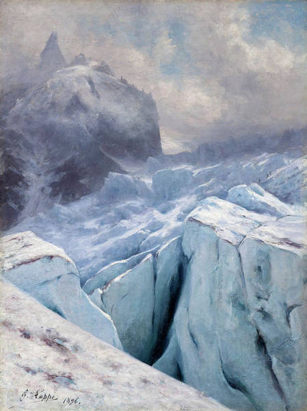 Wall Art - Painting - View Of Mont Blanc,1896 by Gabriel Loppe