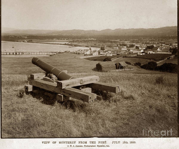 Photograph - View Of Monterey From The Fort July 15th, 1889 by California Views Archives Mr Pat Hathaway Archives