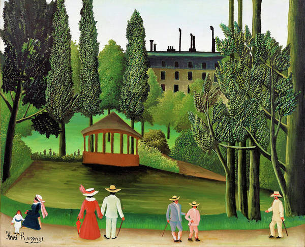 Wall Art - Painting - View Of Montsouris Park, The Kiosk - Digital Remastered Edition by Henri Rousseau