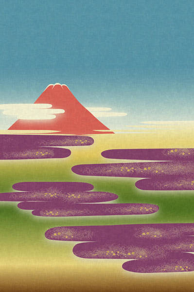 Famous Places Digital Art - View Of Mt. Fuji Against Sky by Imagewerks