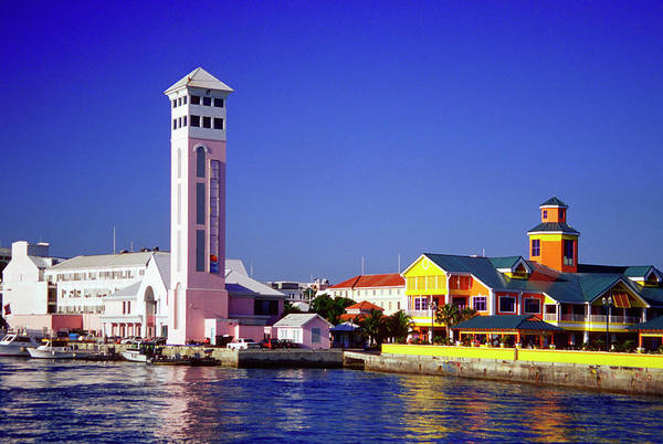 Church Photograph - View Of New Providence Harbor And St by Medioimages/photodisc