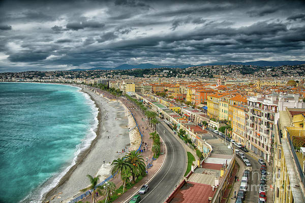 Photograph - View Of Nice France From Castle Hill by Wayne Moran