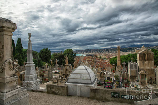 Wall Art - Photograph - View Of Nice From Cimitiere Du Chateau Castle Cemetery Nice France by Wayne Moran