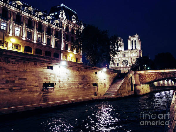 Photograph - View Of Notre Dame From The Sienne River In Paris, France by PorqueNo Studios