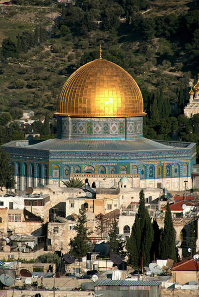 Wall Art - Photograph - View Of Old City Of Jerusalem And Dome by Danita Delimont