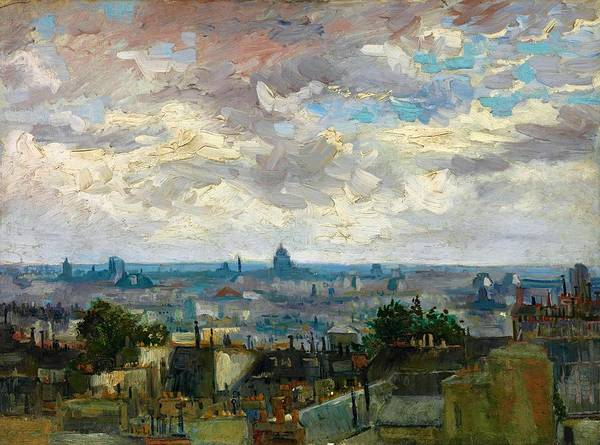 Wall Art - Painting - View Of Paris - Digital Remastered Edition by Vincent van Gogh