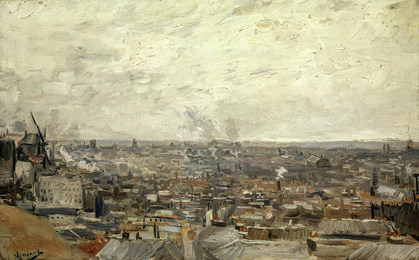 Wall Art - Painting - View Of Paris From Montmartre, 1886 by Vincent van Gogh