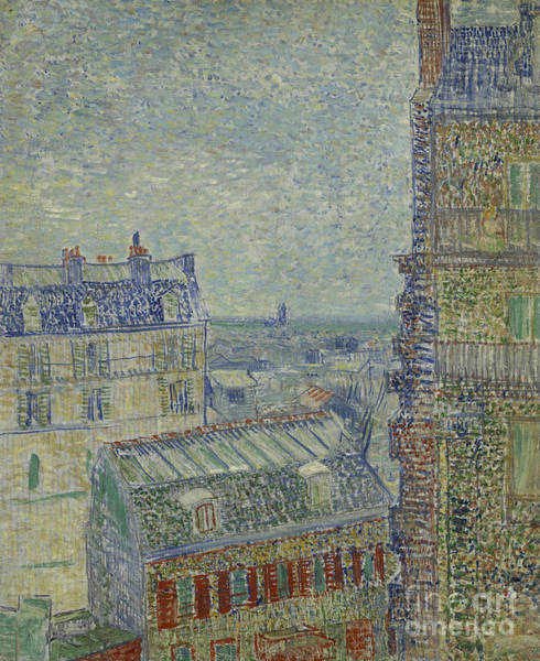 Wall Art - Painting - View Of Paris From Theos Apartment In The Rue Lepic, 1887  by Vincent Van Gogh