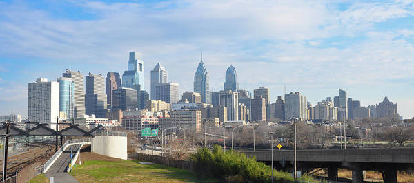 Wall Art - Photograph - View Of Philadelphia Cityscape From University City by Bill Cannon