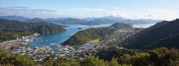 Queen Charlotte Sound Wall Art - Photograph - View Of Picton by Goumont Vincent