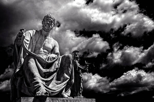 Photograph - View Of Polibio Statue by Roberto Pagani