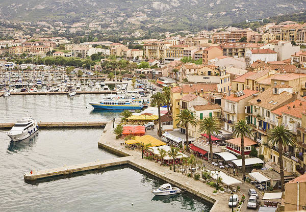 Corsica Photograph - View Of Quay And Waterfront Of Calvi by David Madison