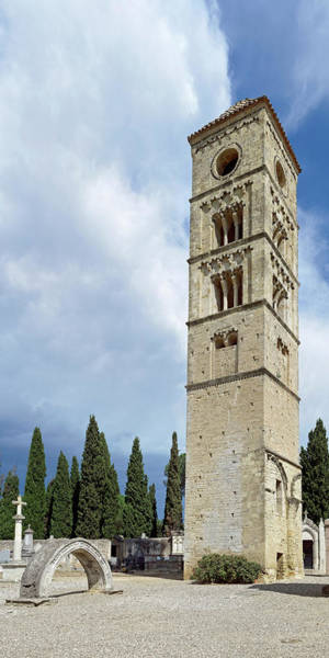 Wall Art - Photograph - View Of Romanesque Tower, Puissalicon by Panoramic Images