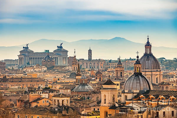 Wall Art - Photograph - View Of Rome From Castel Santangelo by S.borisov