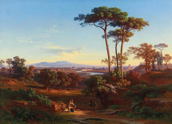 Wall Art - Painting - View Of Rome From Monte Mario by Johann Jacob Frey