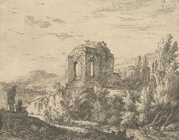 Wall Art - Relief - View Of Ruins Showing The Corner Of A Building With Two Arched Windows by Karel Dujardin