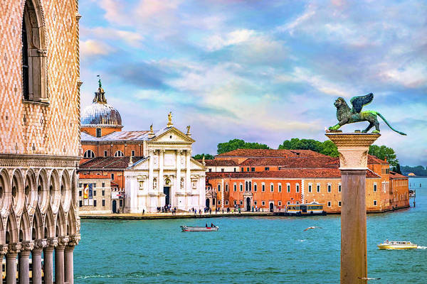Lion Of St Mark Photograph - View Of San Giorgio Maggiore by Carolyn Derstine