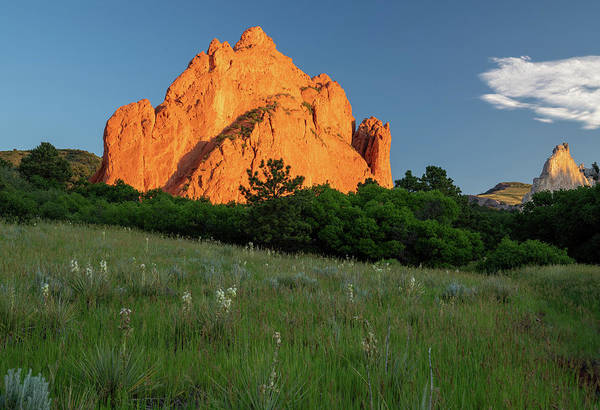 Photograph - View Of Sandstone Rock Formations In Garden Of The Gods In Colorado Springs Usa by Kyle Lee