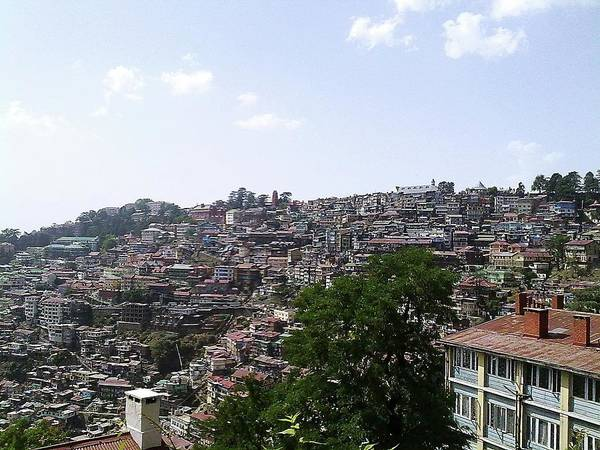 India Photograph - View Of Shimla Houses by The Natural Beauty Of India