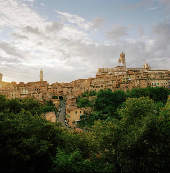 Town Square Wall Art - Photograph - View Of Siena Showing The Duomo Santa by Cultura Rm Exclusive/philip Lee Harvey