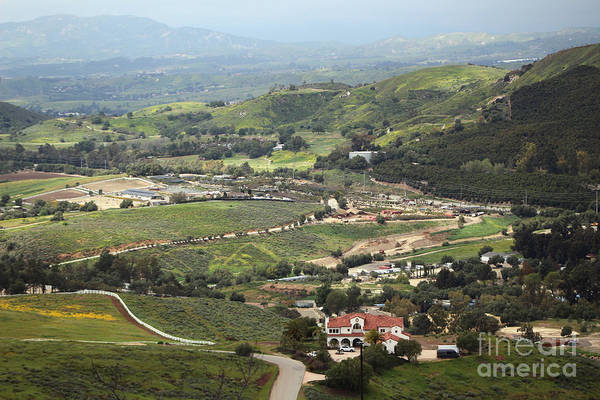 Photograph - View Of Simi Valley From Reagan Library Grounds 6 by Colleen Cornelius