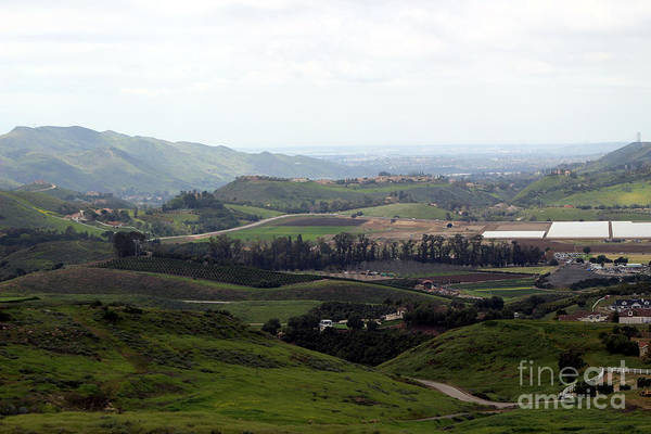 Photograph - View Of Simi Valley From Reagan Library Grounds 7 by Colleen Cornelius