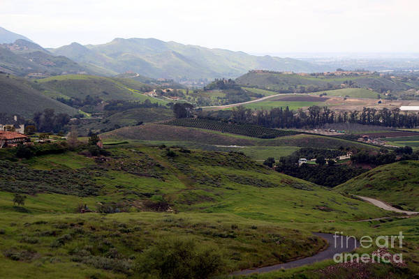 Photograph - View Of Simi Valley From Reagan Library Grounds by Colleen Cornelius