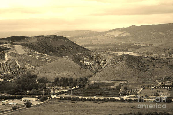 Photograph - View Of Simi Valley In Sepia by Colleen Cornelius