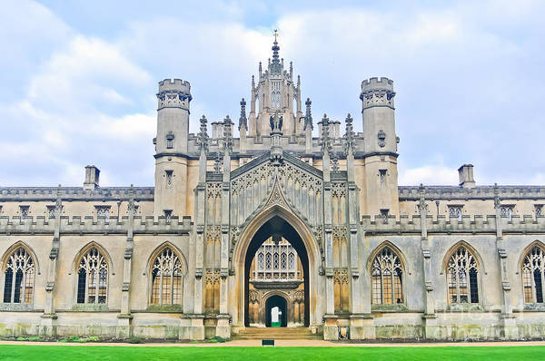 Wall Art - Photograph - View Of St Johns College, University Of by Javen