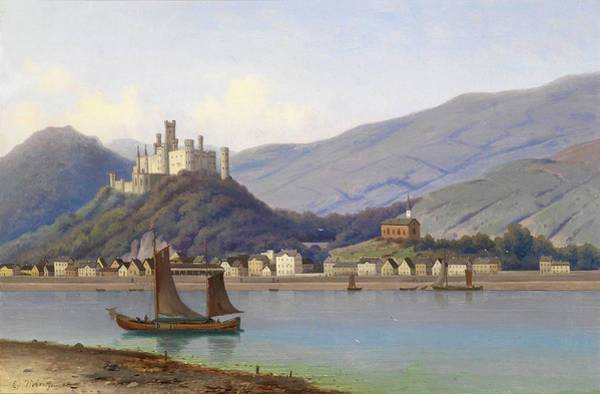 Wall Art - Painting - View Of Stolzenfels Castle On The Rhine by Eduard Hein Jr