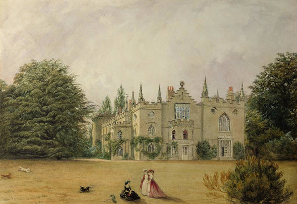 Strawberry Hills Wall Art - Painting - View Of Strawberry Hill Middlesex by Gustave Ellinthorpe Sintzenich