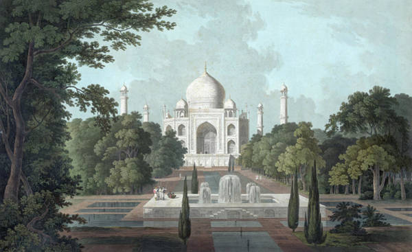 Archival Digital Art - View Of Taj Mahal by Graphicaartis