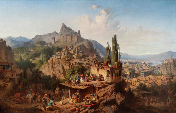 Wall Art - Painting - View Of Tbilisi, 1859 by Paul von Franken