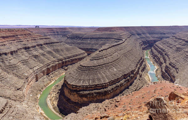 Photograph - View Of The 1,000 Foot Deep Meander Of The San Juan River At Goo by William Kuta