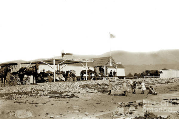 Photograph - View Of The Fred Forbush Beachfront Santa Barbara First Bath House Circa 1880 by California Views Archives Mr Pat Hathaway Archives