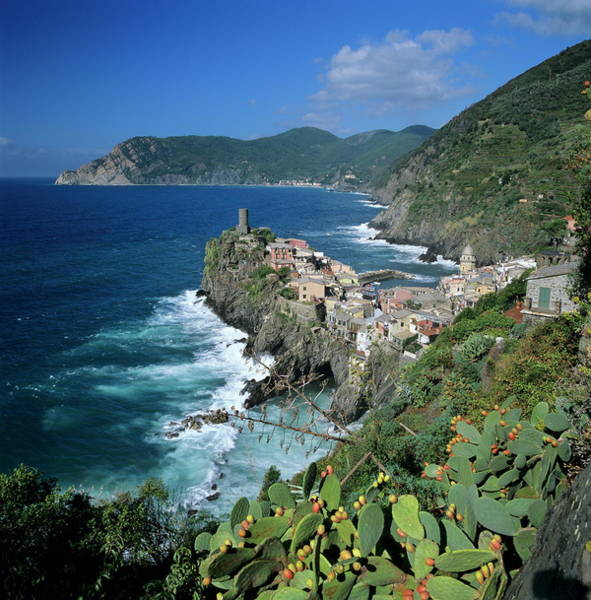Vernazza Photograph - View Of The Cinque Terre Village Of by Stuart Black / Robertharding
