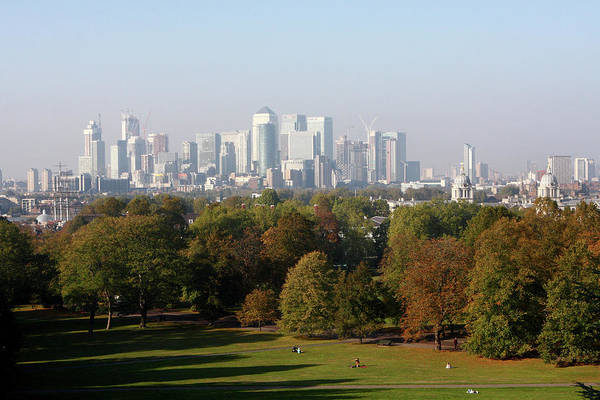 Square Mile Wall Art - Photograph - View Of The City Of London From Greenwich Park by Aidan Moran