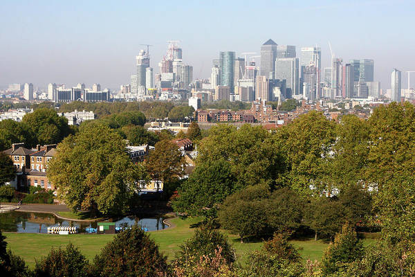 Square Mile Wall Art - Photograph -  City Of London From Greenwich Hill by Aidan Moran
