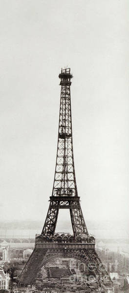 Wall Art - Photograph - View Of The Construction Of The Eiffel Tower, Paris, 12th February And 12th March 1889 by French School