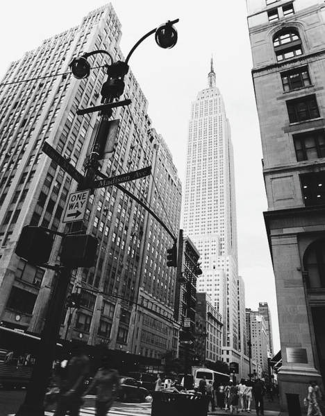 Outdoors Photograph - View Of The Empire State Building, New by Martin Child